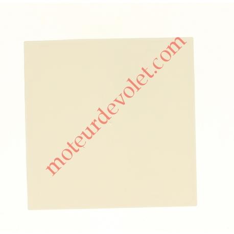 Embout de Coffre Modulo Alu de 125 Pan Droit en Abs Coloris Blanc