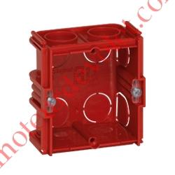 Boîte d'encastrement Carrée Monoposte Associable Profondeur 40 mm pour Maçonnerie