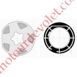 Jeu d'Adaptation pour Moteur LT 60 dans Tube Mischler 100 ou Rond de 102 x 2