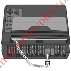 Carte Electronique Avec Récepteur Radio Rts intégré pour Moteur de Portail Coulissant SL 400 Lapeyre, Axovia 400 C et SLD 3000