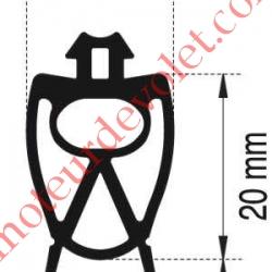 Profil Caoutchouc de Barre Palpeuse, le mètre