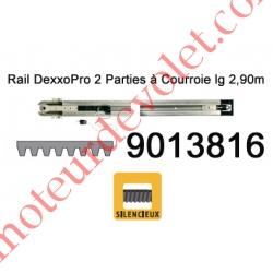 Rail en 2 Parties à Courroie 30 000 Cycles lg 2,90m pour Dexxo Pro