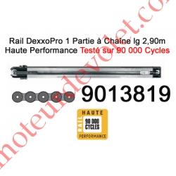 Rail Monobloc à Chaîne Haute Performance 90 000 Cycles lg 2,90m pour Dexxo Pro