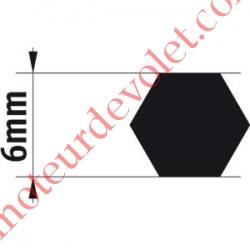 Adaptateur d'Axe Hexagonal de 6 mm pour Moteur de Bso J4