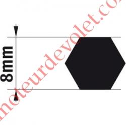Adaptateur d'Axe Hexagonal de 8 mm pour Moteur de Bso J4