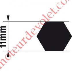 Adaptateur d'Axe Hexagonal de 11 mm pour Moteur de Bso J4