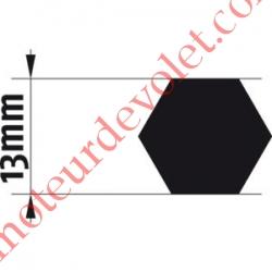Adaptateur d'Axe Hexagonal de 13 mm pour Moteur de Bso J4