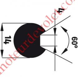 Adaptateur d'Axe ø 14 mm Rainuré Fond Plat 4 mm à 60° pour Moteur de Bso J4