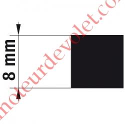 Adaptateur d'Axe Carré de 8 mm pour Moteur de Bso J4