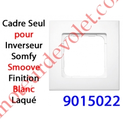 Cadre Smoove Blanc Laqué 1 Poste 80 x 80 x 10 mm