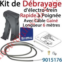 Kit de Débrayage Rapide à Poignée avec 6 ml de Câble Gainé pour Moteur Central