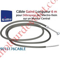 Câble Gainé Longueur 6 m pour Débrayage de l'Electro-frein sur Moteur Central