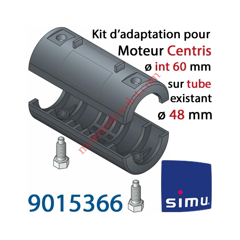 simu 9015366 kit d 39 adaptation pour moteur central simu centris 60 mm au tube 48 mm. Black Bedroom Furniture Sets. Home Design Ideas