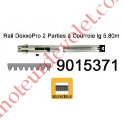 Rail Monobloc à Courroie 30 000 Cycles lg 5,80m (en 2 Parties) pour Dexxo Pro