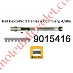 Rail Monobloc à Courroie 30 000 Cycles lg 4,50m (en 2 Parties) pour Dexxo Pro