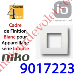 Cadre Niko Intense Blanc 1 Poste 80 x 80 x xx mm