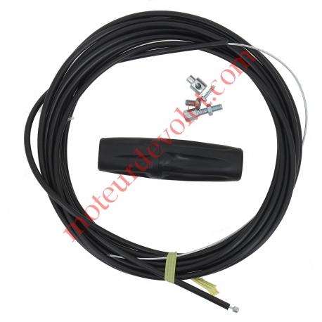 Kit de Débrayage Classique à Visser-Dévisser avec 6 ml de Câble Gainé pour Moteur Central