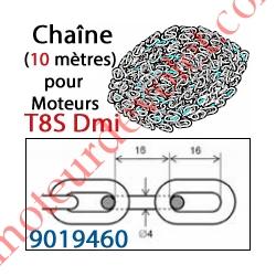 Chaîne ø 4x16 mm Longueur 10 mètres pour Manoeuvre de Secours par Chaîne réf 9019458