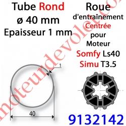 Roue pour Moteur LS 40 ou T 3.5 dans Tube ø 40 x 1