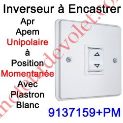 Inverseur Apr-Apem Unipolaire à Position Momentanée avec Plaque pour Encastrer