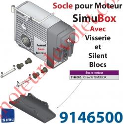 Socle pour Fixer Simubox livré Avec 2 Axes 4 Circlips et 4 SilentBloc