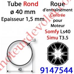 Roue pour Moteur LS 40 ou T 3.5 dans Tube ø 40 x 1,5