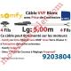 Câble H05VVF Blanc 4 x 0.75 mm² lg 5,00 m Avec Prise Noire pour Moteur LT Filaire
