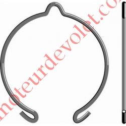 Anneau d'Arrêt Simple en Acier Ressort ø 2mm Revêtu Benzinal pour support LT 50 & 60