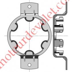 Support Métallique entr'axes 90 mm Moteur LT 50 Couple Maxi 50 Nm