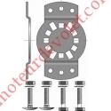 Support Csi 50 & 60 entr'axes ø 6 40 à 45 mm. avec visserie Couple Maxi 85 Nm