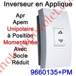 Inverseur Apr-Apem Unipolaire à Position Momentanée avec Socle Réduit pour Pose en Applique