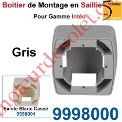 Boîtier de Montage en Saillie de 43,5 mm Coloris Gris pour Gamme Intéo
