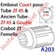 Embout Court Zf 45 (Compatible avec l'Ancien Tube Zf45 à Goutte) à Crabot Zf Femelle Alésé ø16,5 mm