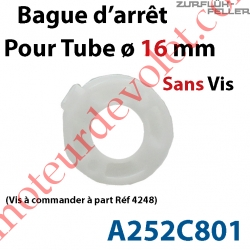 Bague d'Arrêt pour Tube ø 16 mm Limite le Déport du Télescopique
