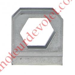 Etrier de Blocage Percé Hexagonal de 18 pour Tube ø 16 mm Limite le Déport du Télescopique Sans Vis ni Ecrou