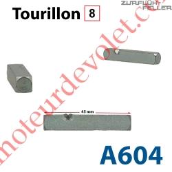 Tourillon Carré de 8 mm Longueur 45 mm Marqué