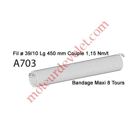 Ressort Type X Fil 39/10 x 450 mm