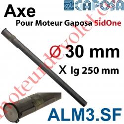 Axe diamètre 30 mm pour Moteur Gaposa SidOne 250Nm Avec Clavette 8 x 7 x 100 mm en Acier Etiré Avec Circlip diamètre 30mm