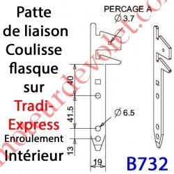 Patte Tradi Express Enroulement Intérieur Acier Galvanisé 30/10 Largeur 19 mm