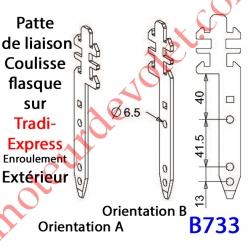 Patte Tradi Express Enroulement Extérieur Acier Galvanisé 30/10 Largeur 19 mm