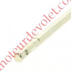Tige Hexagonale de 7 mm Longueur 350 mm Percée ø 4,1 mm Zinguée