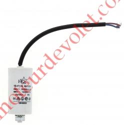 Condensateur Permanent à Fils 10µF ±5% 450 v
