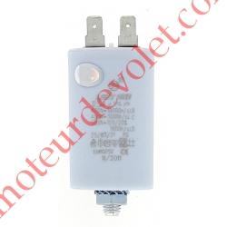 Condensateur Permanent à Cosses 12,5µF ±5% 450 v