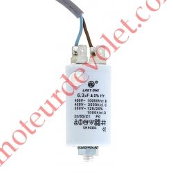 Condensateur Permanent à Cosses & à Fils 6,3µF ±5% 450 v