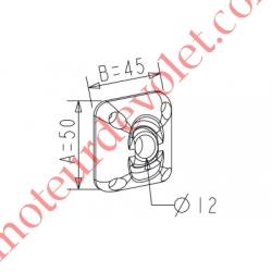 ZF: Guide à Rotule ø 12 mm Coloris Blanc Avec Vis
