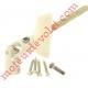 Sortie Bloc-Guide 45° Platine 44x50 Genouillère ø12 Femelle-Hexa7 lg 165 Avec Vis Coloris Blanc