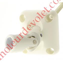 Sortie Bloc-Guide 45° Platine 44x50 Genouillère ø12 Femelle-Hexa7 lg 315 Avec Vis Coloris Blanc