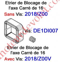 Vis Pointeau Tête Fendue de 6 x 6 mm pour Bague de Blocage Carré de 16 2018/Z00