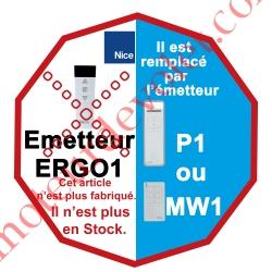 Emetteur Ergo 1 Nomade 3 Fonctions 1 Canal 433,92MHz Rolling Code + Supp Berceau