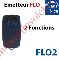 Emetteur Flo 2 Fonctions 433,92MHz Combinaison Fixe à Switchs 1024 Combinaisons
